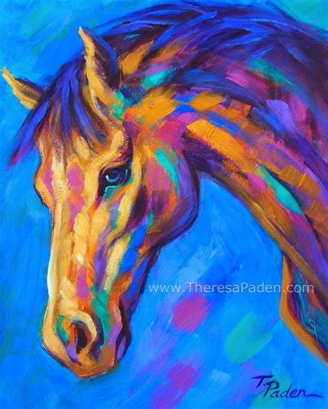 colorful horses daily painters abstract gallery colorful painting