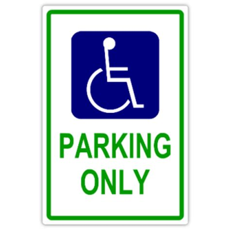 handicap parking 101 handicap parking sign templates