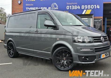 volkswagen van wheels axe cs lite 20 quot alloy wheels gloss black fitted to vw