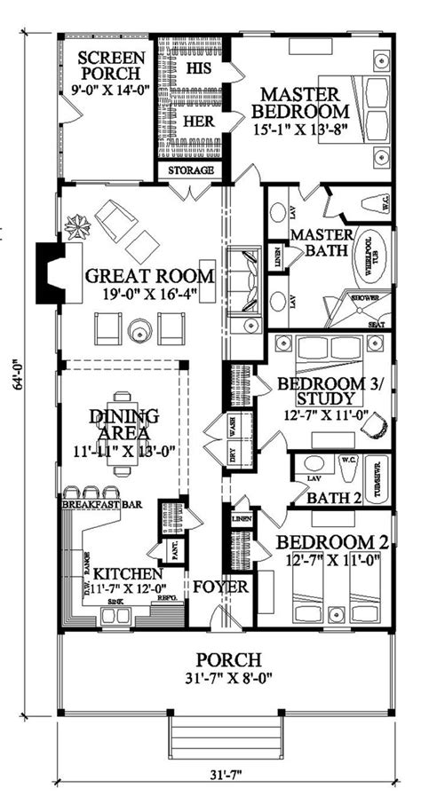 southern style floor plans southern style house plan 3 beds 2 baths 1643 sq ft plan 137 271
