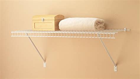 Closetmaid 3 Foot Wire Utility Shelf Closetmaid 1021 Prepack Wire Shelf Kit 2 Hardware