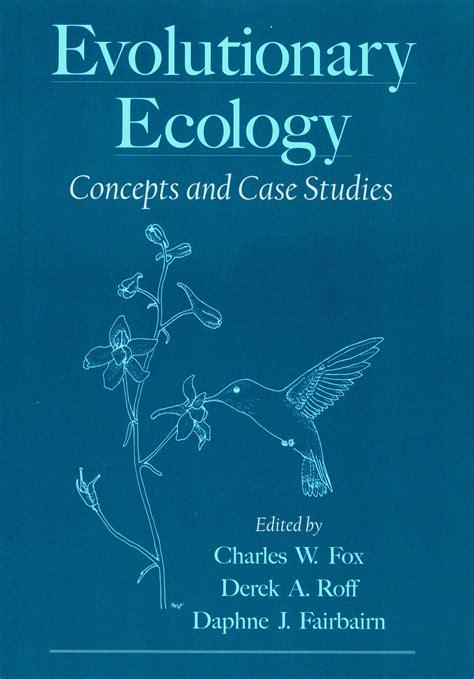 environmentalism an evolutionary approach books charles w fox publications