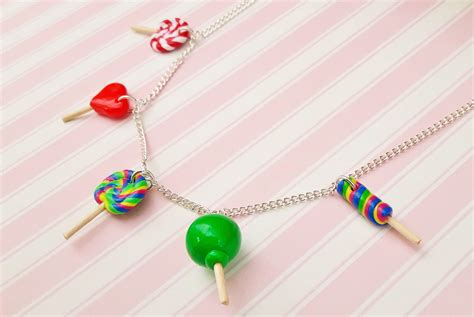 Handmade Lollipops Uk - lollipop charm necklace shinycreations