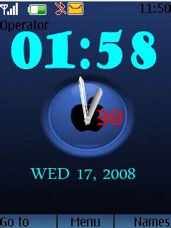 themes apple clock download apple logo clock nokia theme mobile toones