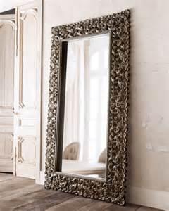 burnished charcoal floor mirror traditional mirrors