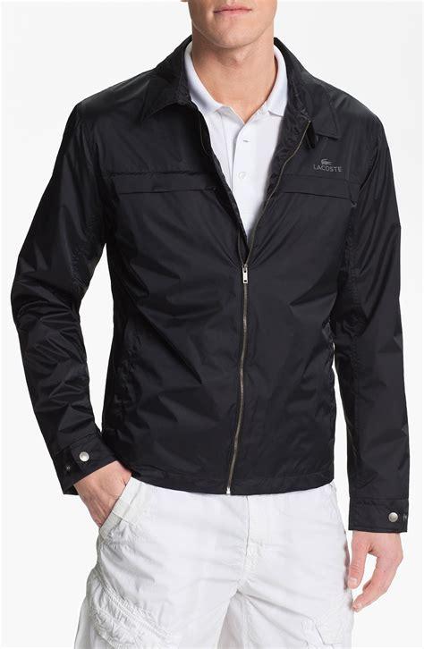 packable jaket lacoste packable lightweight jacket in black for lyst