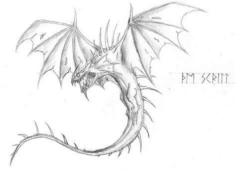 scauldron dragon coloring page the skrill by bunkinator on deviantart