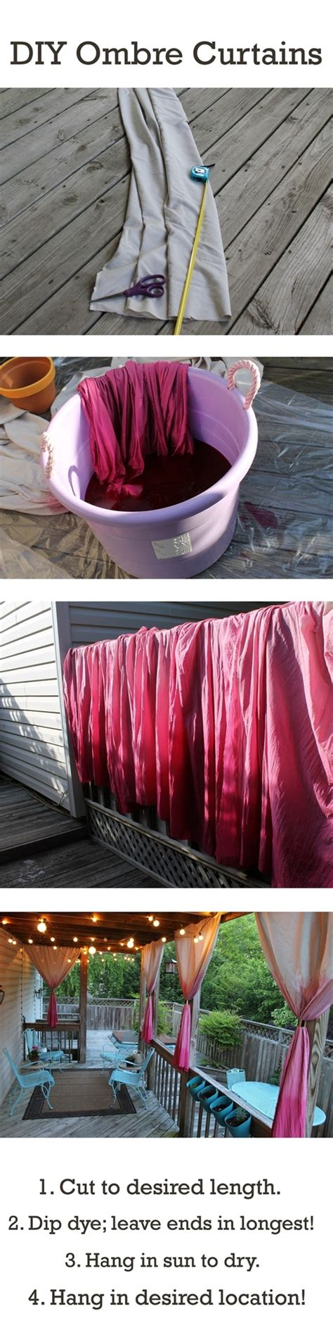 ombre curtains diy chic ombre curtains diy alldaychic