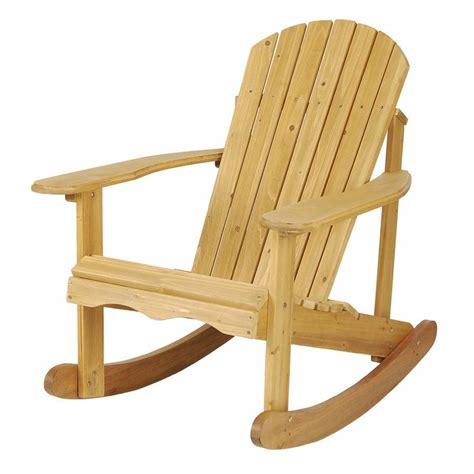 astonica 50108029 wood outdoor adirondack rocking chair finished