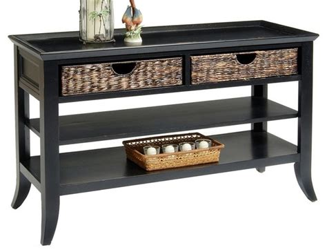 contemporary sofa table black sofa table rubbed black finish contemporary console