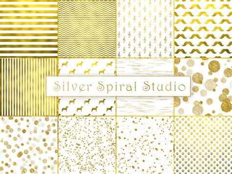 gold printable paper uk faux gold foil white digital paper pack gold background