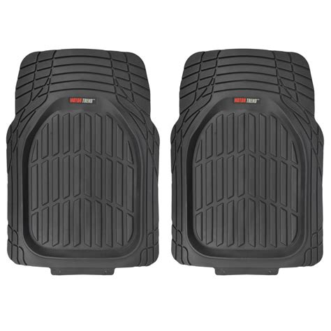 100 Floors Free 58 by Motortrend Dish Rubber Floor Mats Cargo Set Black
