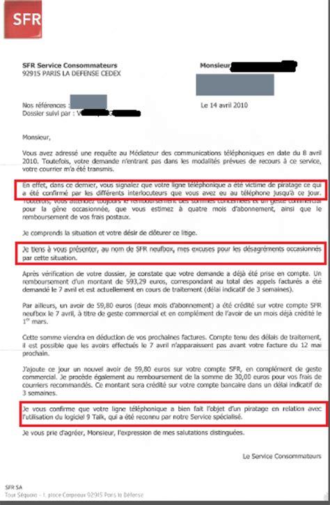 Lettre De Réclamation Free Geste Commercial Combien Gagne Un Conseiller Sfr