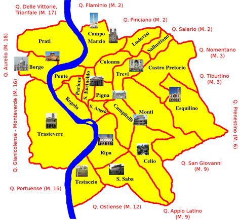 map of neighborhoods map of rome 19 boroughs municipi neighborhoods