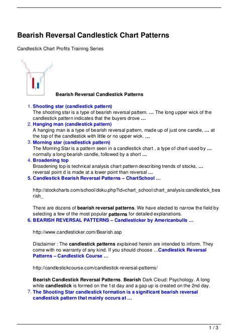 sleep pattern reversal bearish reversal candlestick chart patterns