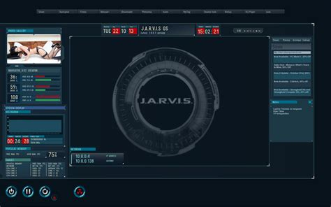 jarvis themes download for pc jarvis os theme modified for rainmeter screenshot by sg1