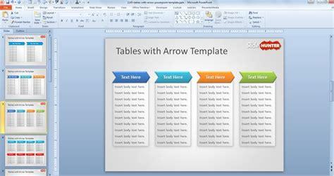 software feature list template plantilla powerpoint de tablas con flechas gratis