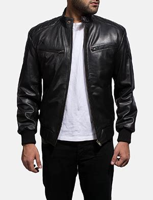Jacket Bomber Kulit Bomber Leather Bomber Pria s leather jackets buy leather jackets for