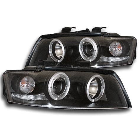 2005 audi s4 headlights 2002 2005 audi a4 s4 black eye halo led projector