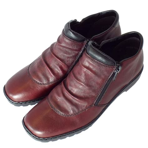 comfortable wide womens shoes rieker witney l6052 35 women s comfortable wide fit red
