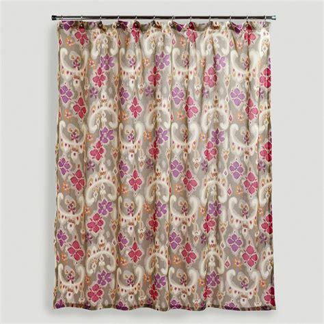 shower curtains world market sonoma ikat floral shower curtain world market 20