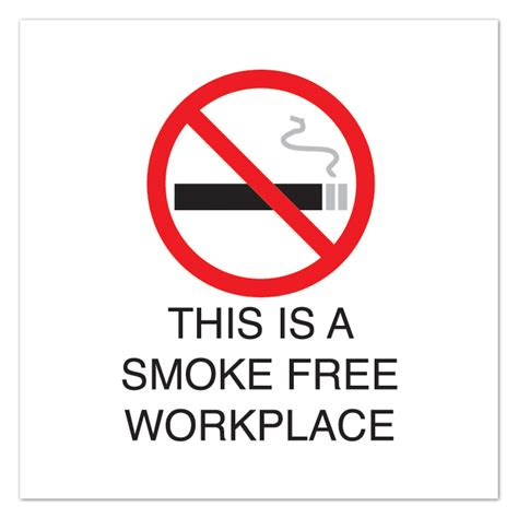 Another Smoke Free Choice by 10 1 2 Quot Sq Plastic Sign Smoke Free Workplace With Symbol