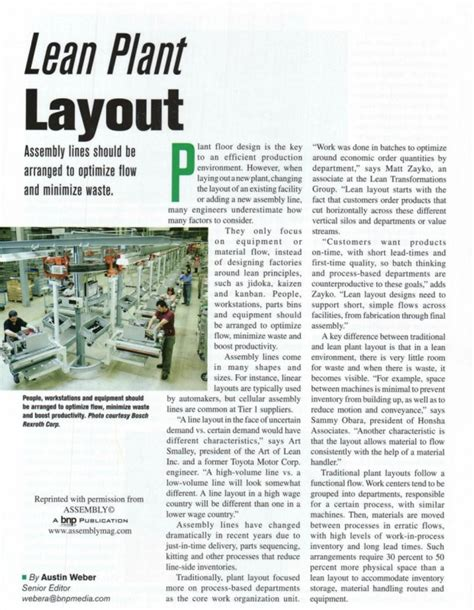 layout design lean manufacturing member article lean plant layout institute for
