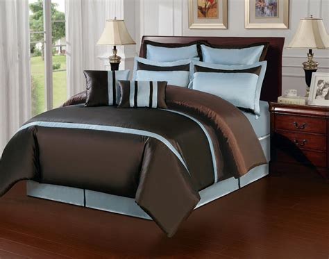 Blue And Brown Bedding Set Create Paradise On Your Bedroom With Blue And Brown Bedding Atzine