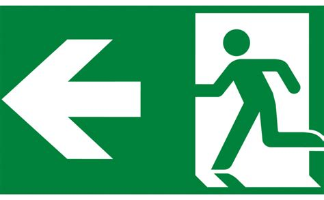 emergency exit signs high quality vector sign  symbols