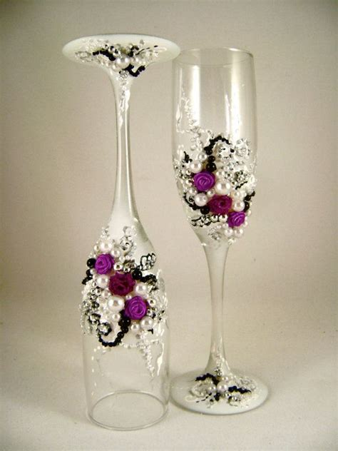 Wedding Glasses 17 17 best images about wedding chagne glasses on