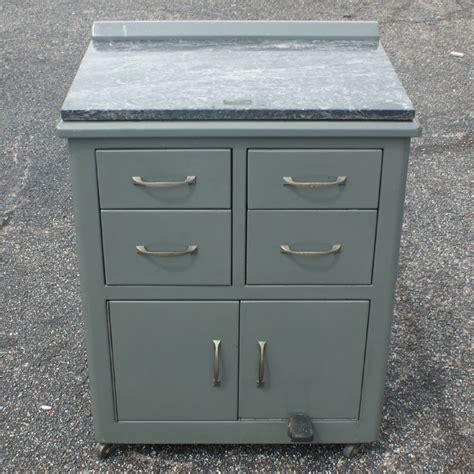 Metal Cabinet Vintage by 2ft Vintage Industrial Metal Marble Cabinet Ebay