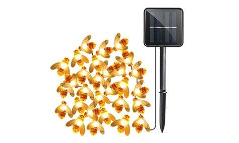 honey bee string lights led honey bee solar lights groupon