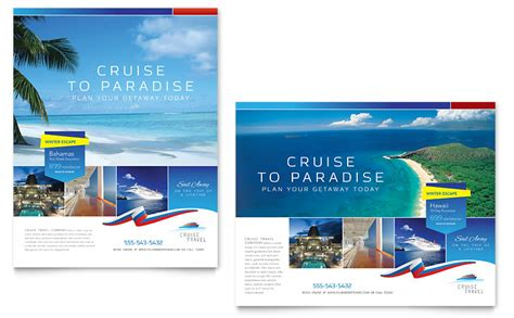 cruise travel poster template word publisher