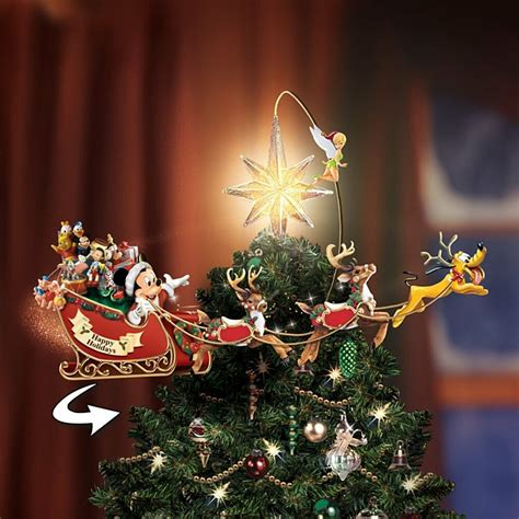 disney tree toppers for christmas trees disney mickey mouse moving lighted tree topper new ebay