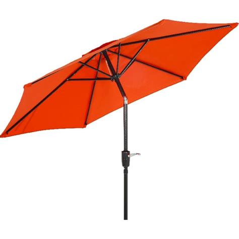 7 5 Orange Canopy Tilt Patio Umbrella Orange Patio Umbrella