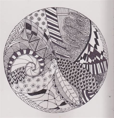 zentangle pattern circle z for zentangles somber scribbler