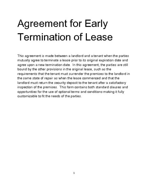 Release From Lease Letter Sle Welcome To Docs 4 Sale