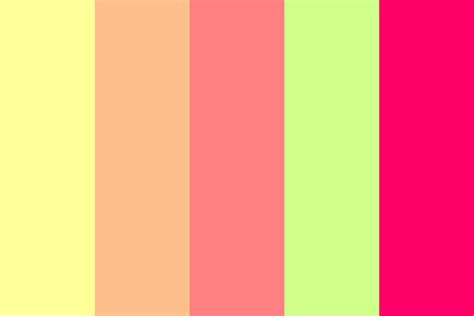 tropical colors tropical biohazard color palette