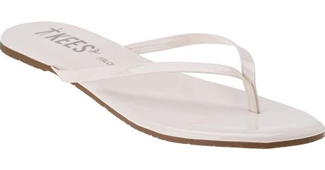 Marsmellow Flat Shoes tkees glosses flip flop marshmallow patent leather in