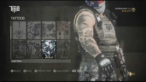tattoo army of two army of two devils cartel mask gear and tattos youtube