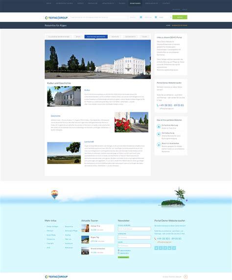 Website Design Vorlage Responsive Hotel Und Reiseportal Zum Verkauf 187 Textag Webdesign Werbung R 252