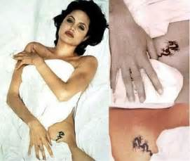 tattoo angelina jolie betekenis angelina jolie sexy tattoos and their meanings