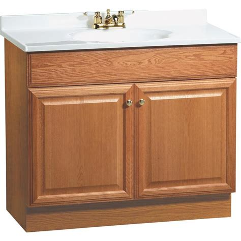 Shop Project Source Golden Integrated Single Sink Bathroom 37 Bathroom Vanity