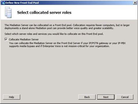 Define Collocate Deploy Lync Server 2013 Pilot Pool