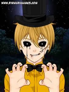 Fnaf anime characters golden freddy by manglefan17 on deviantart