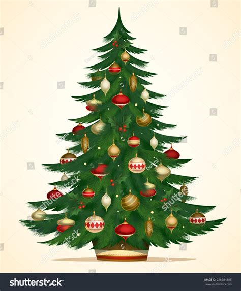 christmas tree card poster banner vector stock vector