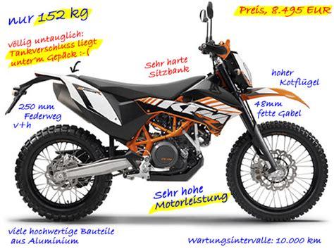Ktm Motorräder Enduro by Enduros Und Motorr 228 Der Zum Endurowandern Mit Zelt Und