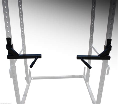 dip attachment for power rack titan power rack plus dip bars squat deadlift lift cage bench rack stand pull up ebay