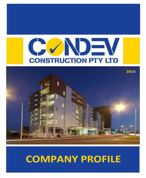 house construction company 24 company profile sles templates in pdf