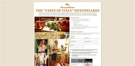 Italy Sweepstakes - tommy bahama s taste of italy sweepstakes win an italian cooking vacation